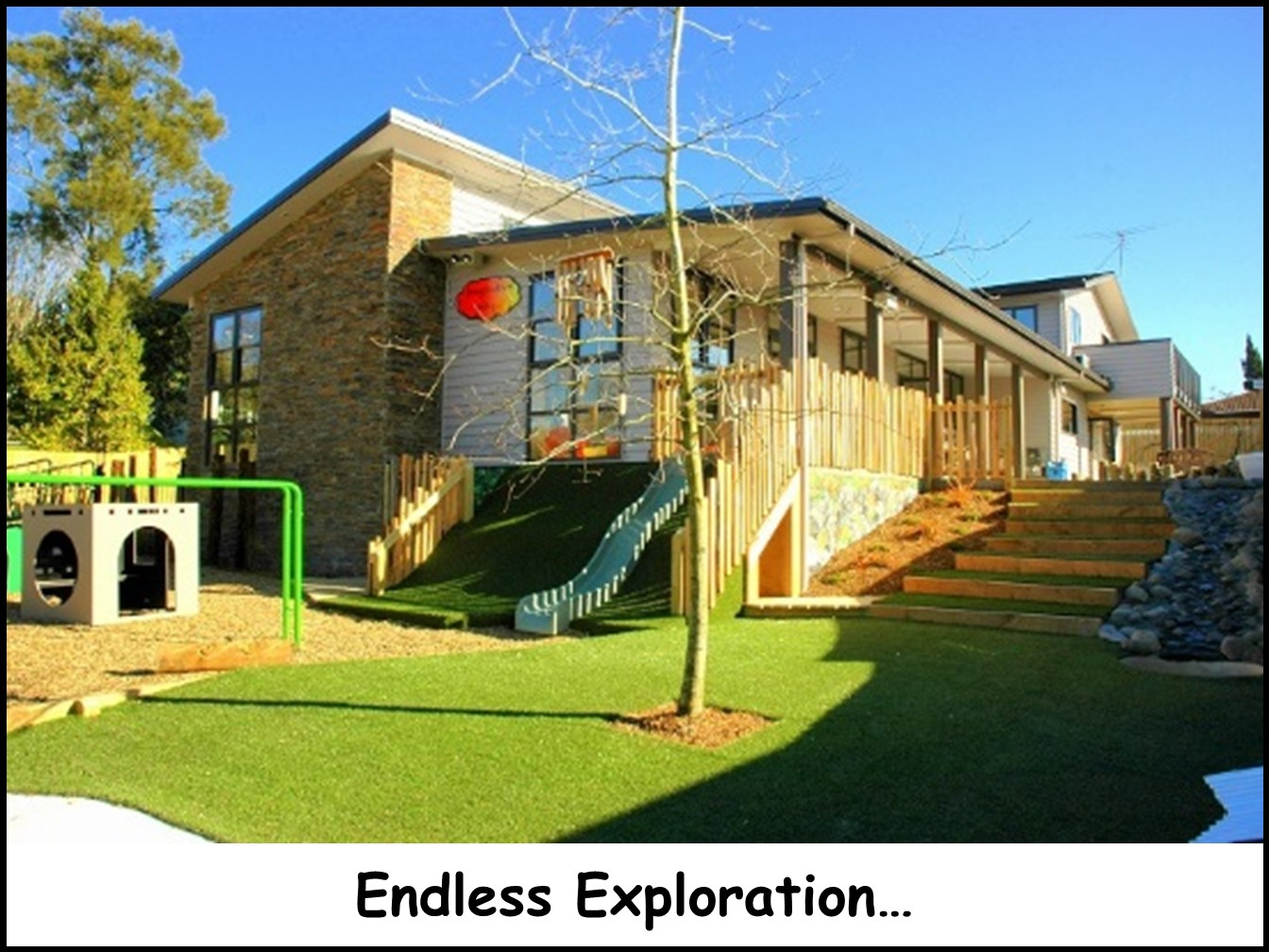 Childcare with a big playground that is all about children and seeing their discoveries & learning evolve near New Lynn, New Windsor, Sandringham, Mt Roskill, Mt Albert, Three Kings, Lynfield, Green Bay, Royal Oak, Hillsborough, Huia, Owairaka, Titirangi, Blockhouse Bay, Laingholm