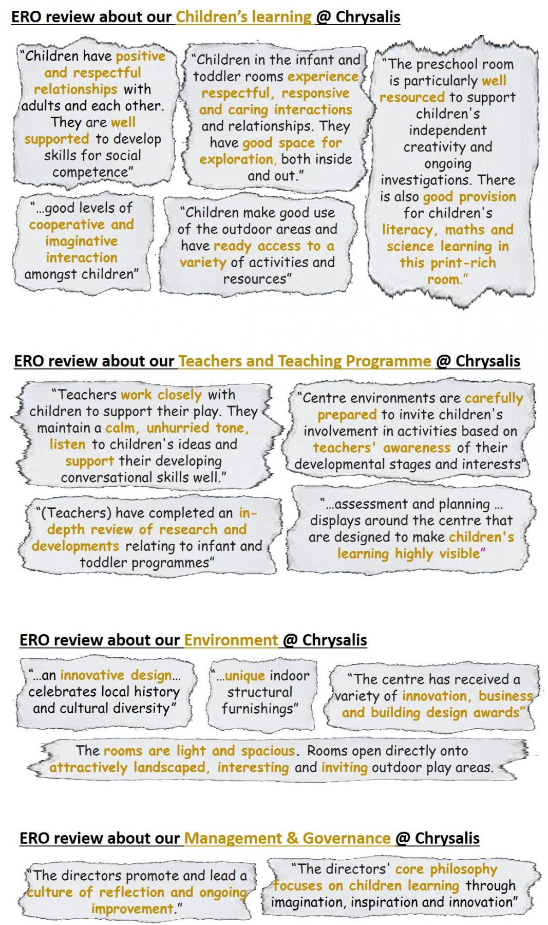 Ero reviews | Chrysalis Early Learning Centre | Day Care in